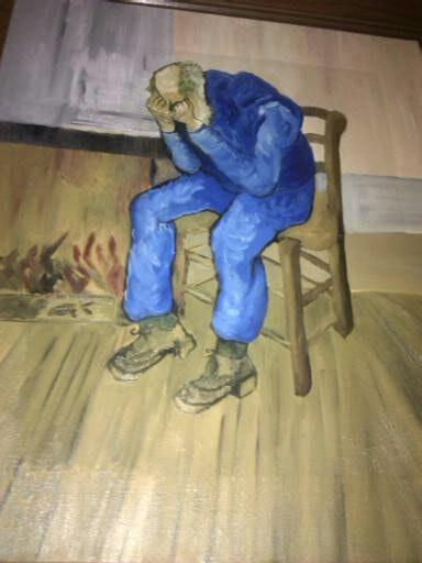 Le vieil homme triste d apres van gogh. Wallace Waide Wallace Waide