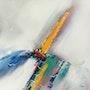 Voilier qui danse sur les vagues bleus et turquoises. Philippe Amagat