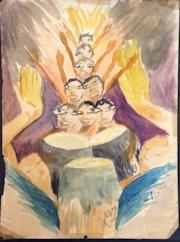 Drums #26mfn. Myriam Nader Haitian Art Gallery- Ny