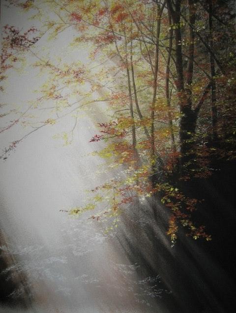 Lumière d'Automne d'après une photographie libre de droit. Jacqueline Hautbout Jacqueline Hautbout