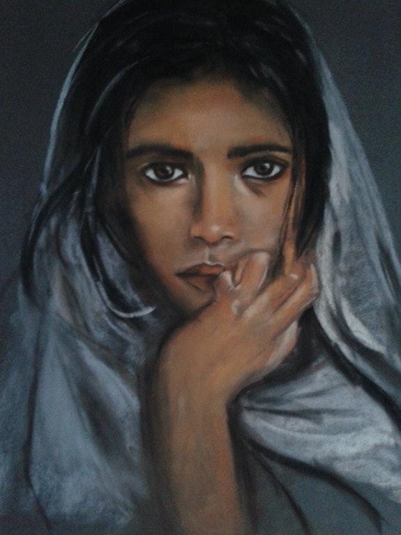 Fillette indienne.  Joelle Bouriel