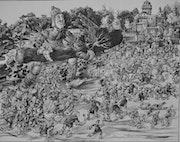 L'attaque du chateau de picrocole par Gargantua. Jean Claude Buisson
