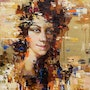 Abstract woman portrait painting #2. Anastasiya Valiulina