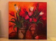 Bouquet de tulipes. Henriette Capretti