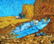 La sieste d'après l'oeuvre de Van Gogh.