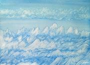 Des montagnes et un Lac en hiver.