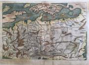 Original Europakarte der Schedel Weltchronik 1493, koloriert. Thomas Kern