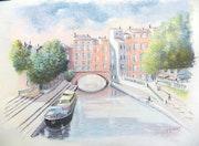 Le canal à Narbonne.