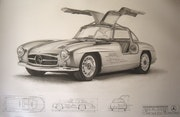 Mercedes Gullwing 1954. Eric Stavros
