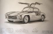 Mercedes Gullwing 1954.
