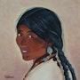 Femme nomade tibétaine.