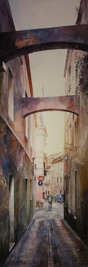 Aux dernières lueurs… Via Maddalena, Sassari. Gaël Patin