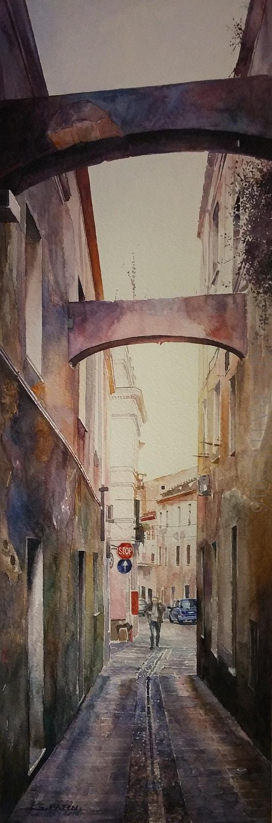 Aux dernières lueurs… Via Maddalena, Sassari. Gaël Patin Gaël Patin