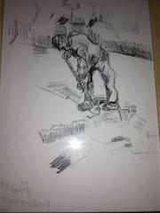 D apres van gogh correspondance 1 (homme bêchant) 2012. Wallace Waide