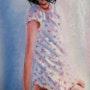 Jeune fille sur la plage. Robert Esnay