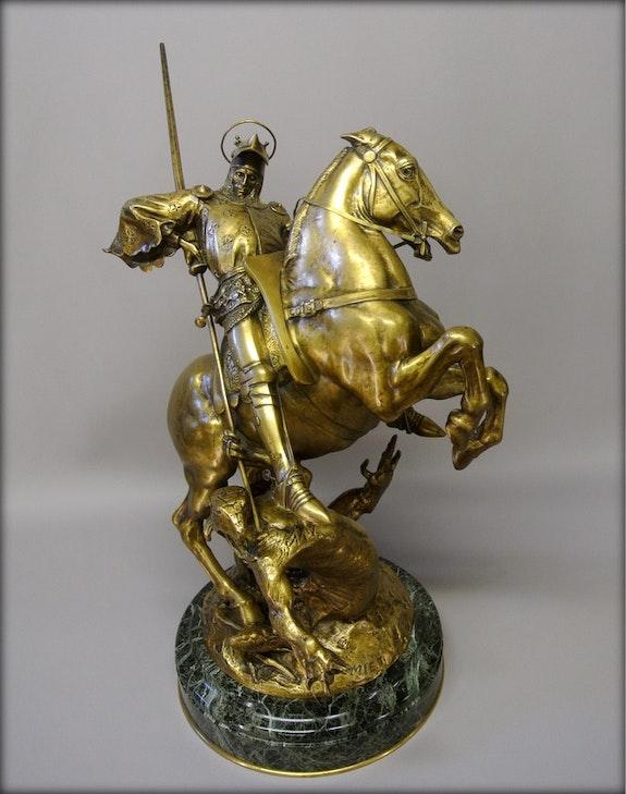 Saint Georges par E. Fremiet. Emmanuel Frémiet Marc Menzoyan Antiquités