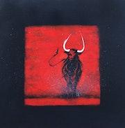 Taureau noir en rouge II.