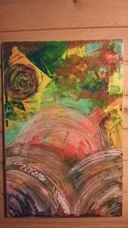 Abstrait tricolore.