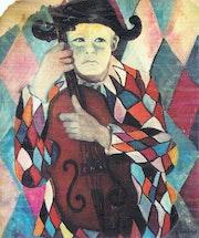 Série Arlequin, Pierrot au violon.