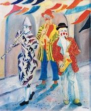 Série Arlequin, Clowns musiciens.