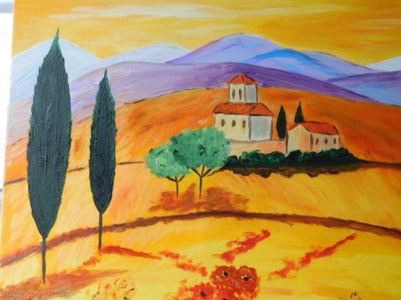 Les plaines de Toscane.  Josiane Joly