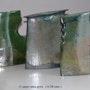 Trois vases Raku émail de cuivre. Atelier-Chrisalina: Aline Arnaud