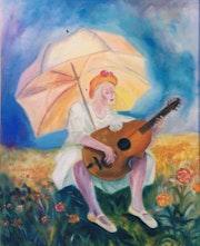 Jeune fille à l'ombrelle.