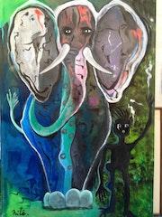 Eléphant bleu.