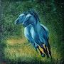 Les chevaux bleus. Régine Guthmann