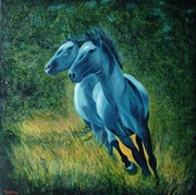 Les chevaux bleus.