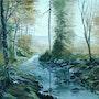 Le ruisseau dans le sous bois. Mik'art