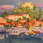 Porquerolles, le port ensoleillé. Galerie Saint-Roch