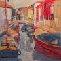 Burano, les quais. Galerie Saint-Roch
