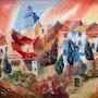 Roussillon, le village. Galerie Saint-Roch