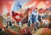 Roussillon, le village.