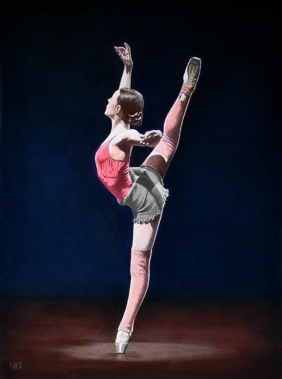 Practice session of a ballerina. Ivan Jones Ivan Jones