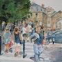 Dans les rues de Bordeaux. Althéia - Martine Vinsot