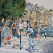 Dans les rues de Bordeaux.