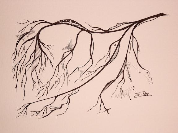Arbre (Branche d'hiver) n° 3. Colette Colette