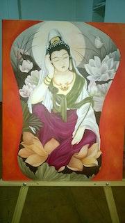La geisha en descanso. Maria Dolores Borrajo