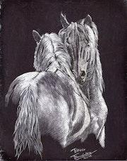 Ilustración, realizada en tinta china. Patricia Fernandez Cerdá