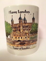 Tower of London artwork on a Mug. Bfj Wighton