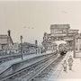 Train Spotters at Battersea Park Station. Bfj Wighton