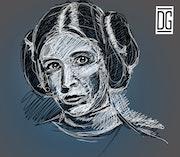 Princesse Leia. Dixit Graphiste