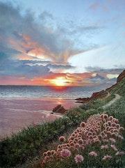 Sunset on the Cornwall coast. Ivan Jones