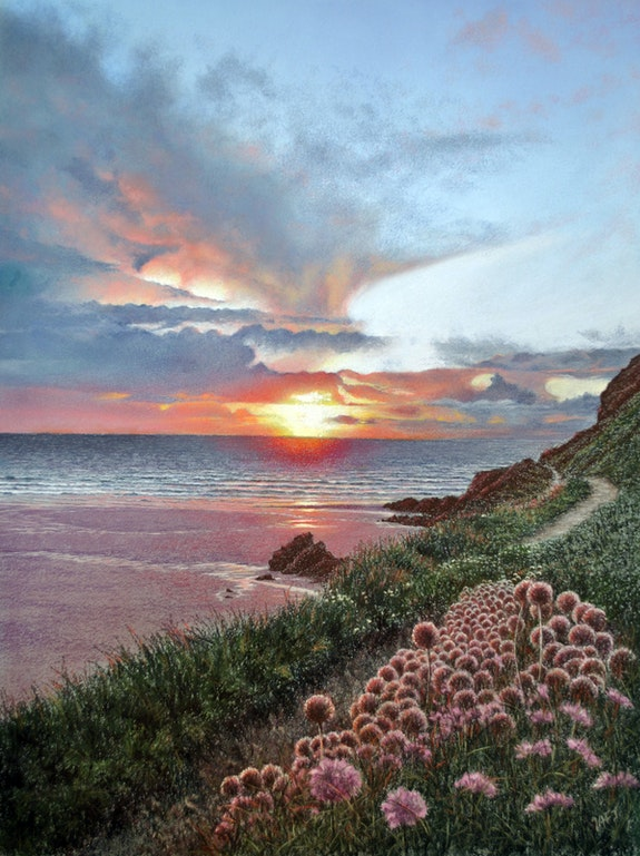 Sunset on the Cornwall coast.  Ivan Jones