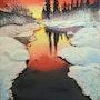 Couche de soleil en hiver. Michel Moreau