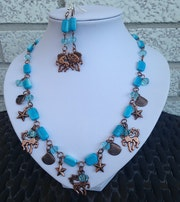 At the Beach necklace and earrings set.