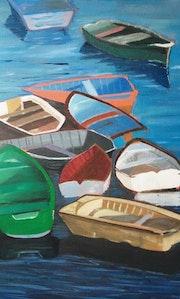 Enchevetrement de barques.
