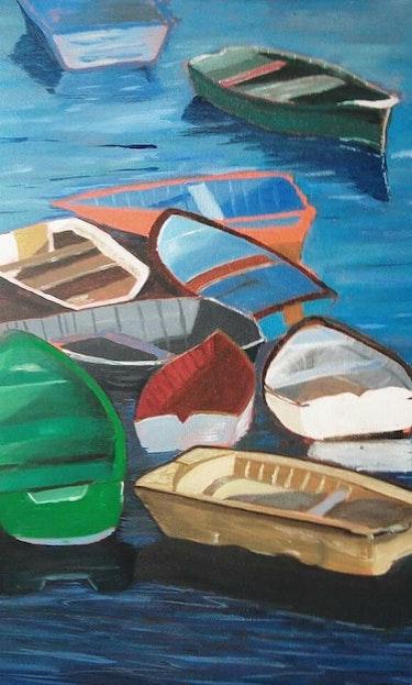 Enchevetrement de barques. Karine Foucaud